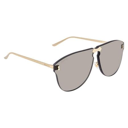 Gucci GG0354S 001 Gold/ Grey Aviator Sunglasses