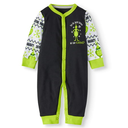 9f46e9c65865 Grinch - Grinch Holiday Family Pjs Footless Unionsuit Pajama (Baby ...