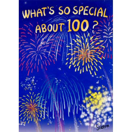 Oatmeal Studios Fireworks 100 Funny / Humorous 100th Birthday Card (Firework Stencil)