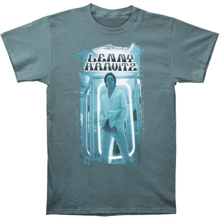 Lenny Kravitz Mens  In The Glow T Shirt Blue