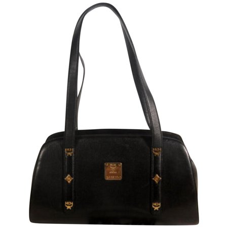 Studded Dome 869507 Black Leather Tote