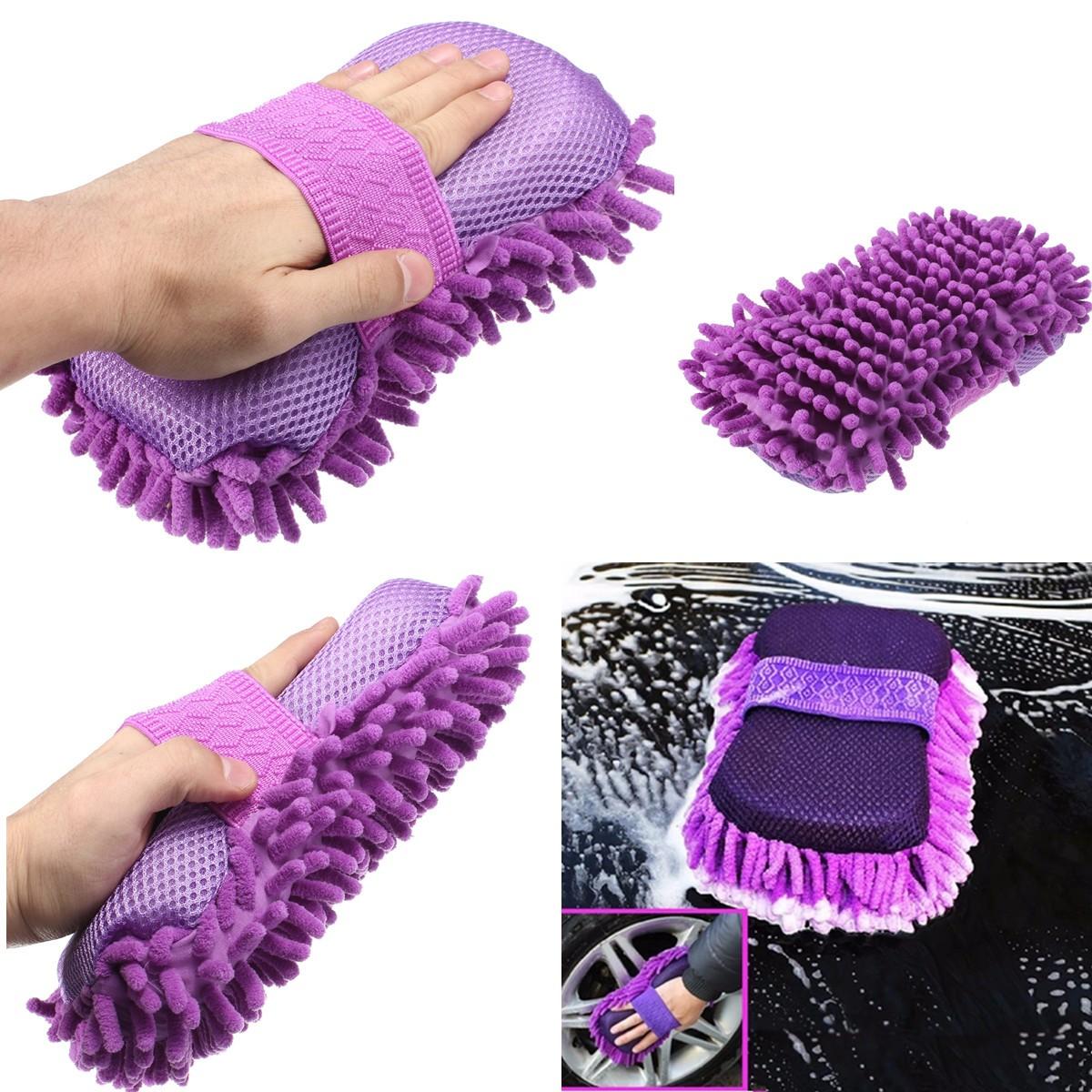 Microfiber Chenille Car Vehicle Care Washing Brush Sponge Pad Cleaning Tool