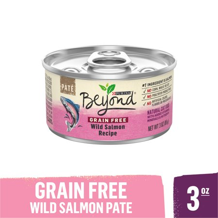 Purina Beyond Grain Free, Natural Pate Wet Cat Food, Grain Free Wild Salmon Recipe, 3 oz. Can