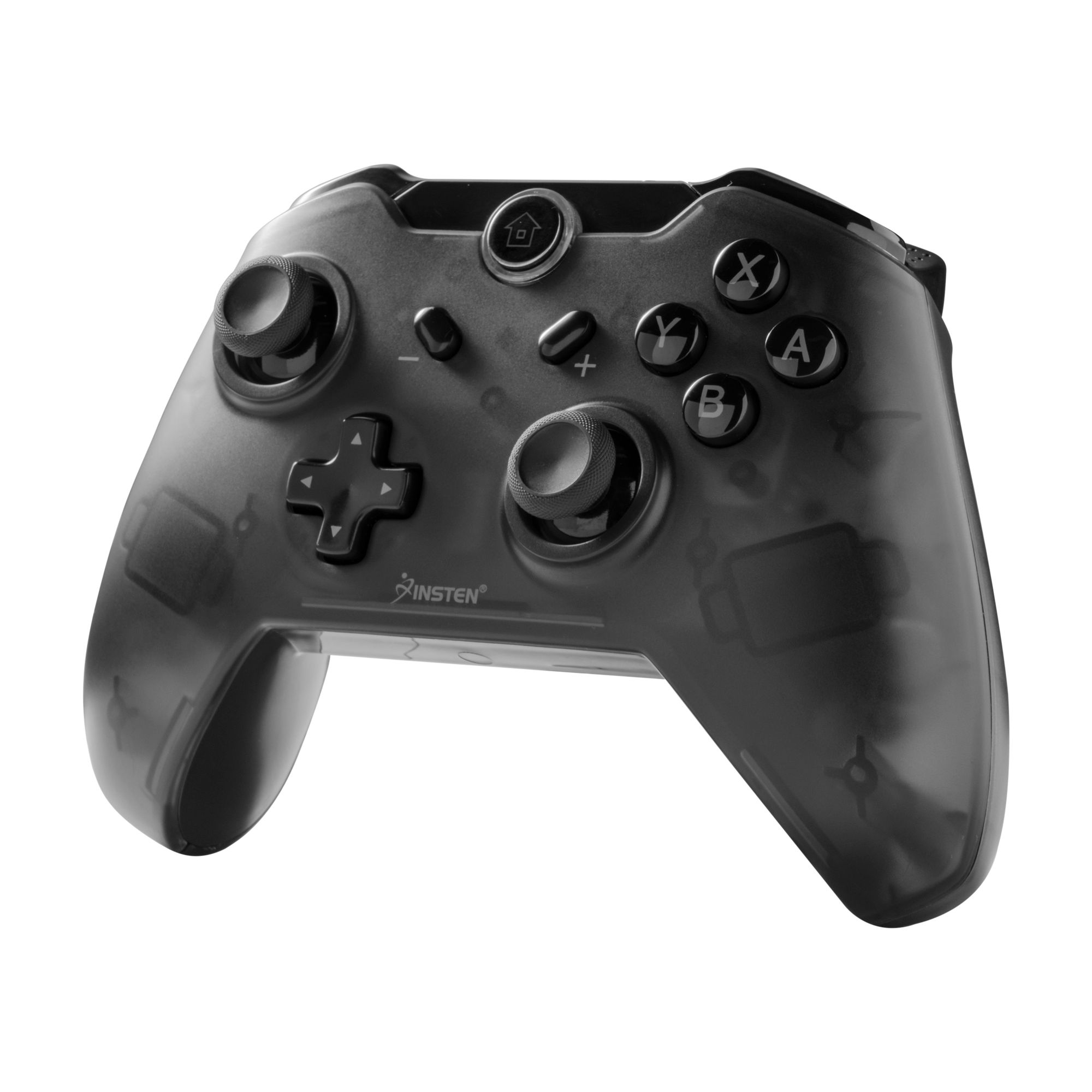 Insten Wireless Pro Controller Gamepad Joypad Remote For Nintendo Switch - Smoke Black