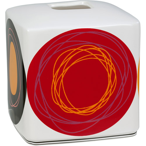 Creative Bath Dot Swirl Bright Boutique Tissue Box