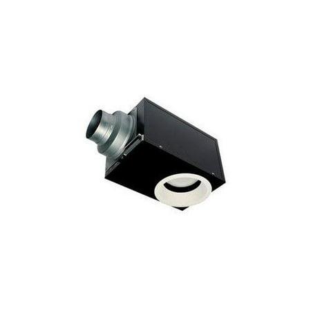 Panasonic Bathroom Fan - Panasonic FV-08VRE1 WhisperRecessed 0.7-sone 80-CFM Bathroom Fan with Light, Black