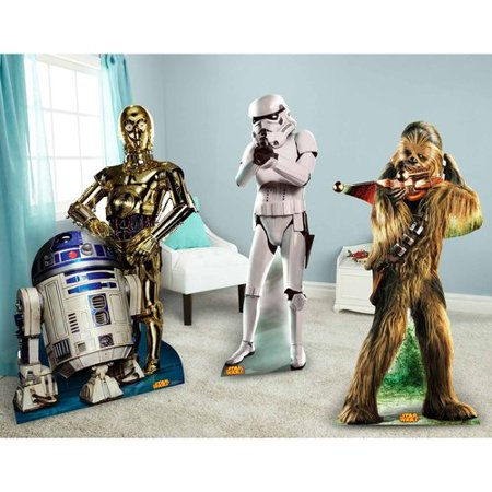 Star Wars Chewbacca, Stormtrooper and R2-D2 and C-3PO Standup Combo Kit