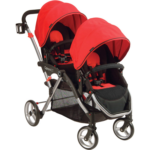 Contours Options LT Tandem Stroller, Crimson Red