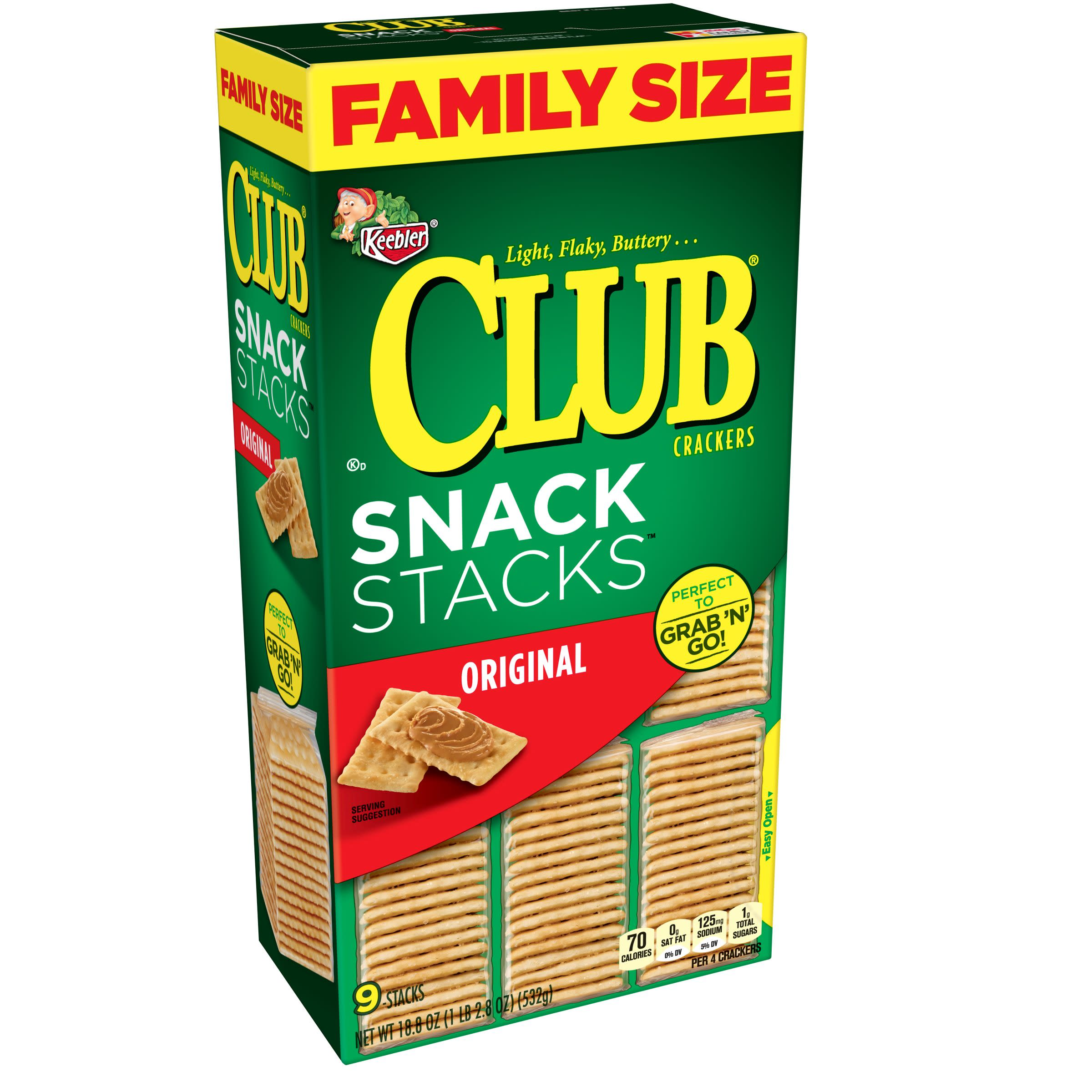 (3 Pack) Keebler Club Snack Stacks Original Crackers 18.8 oz