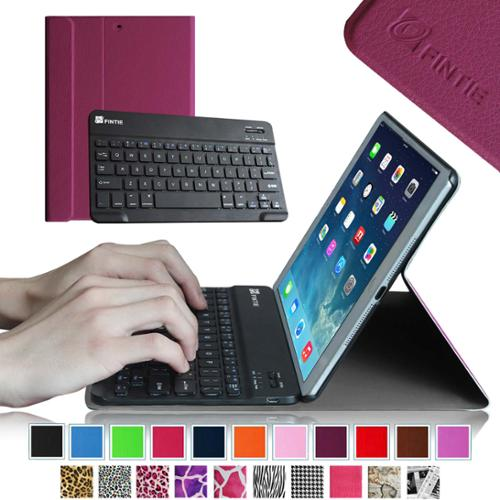 Fintie iPad Air 2 Keyboard Case - Ultra Slim Stand Cover with Magnetic Detachable Wireless Bluetooth Keyboard, Purple