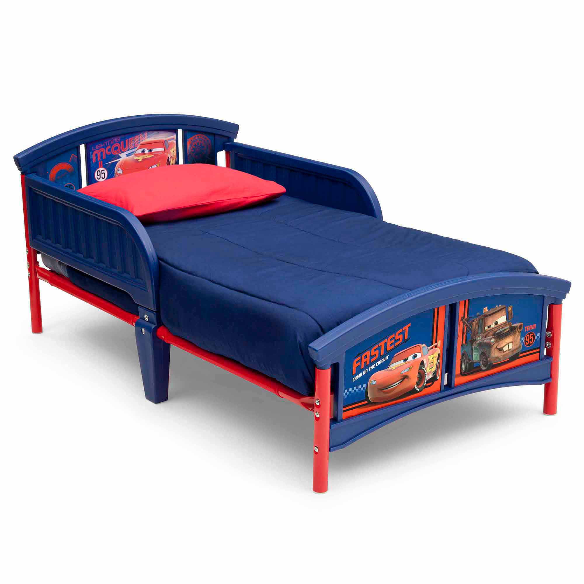 . Delta Children Disney Cars Plastic Toddler Bed   Walmart com