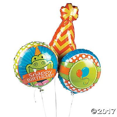 1st Birthday Little Alligator Mylar Balloons