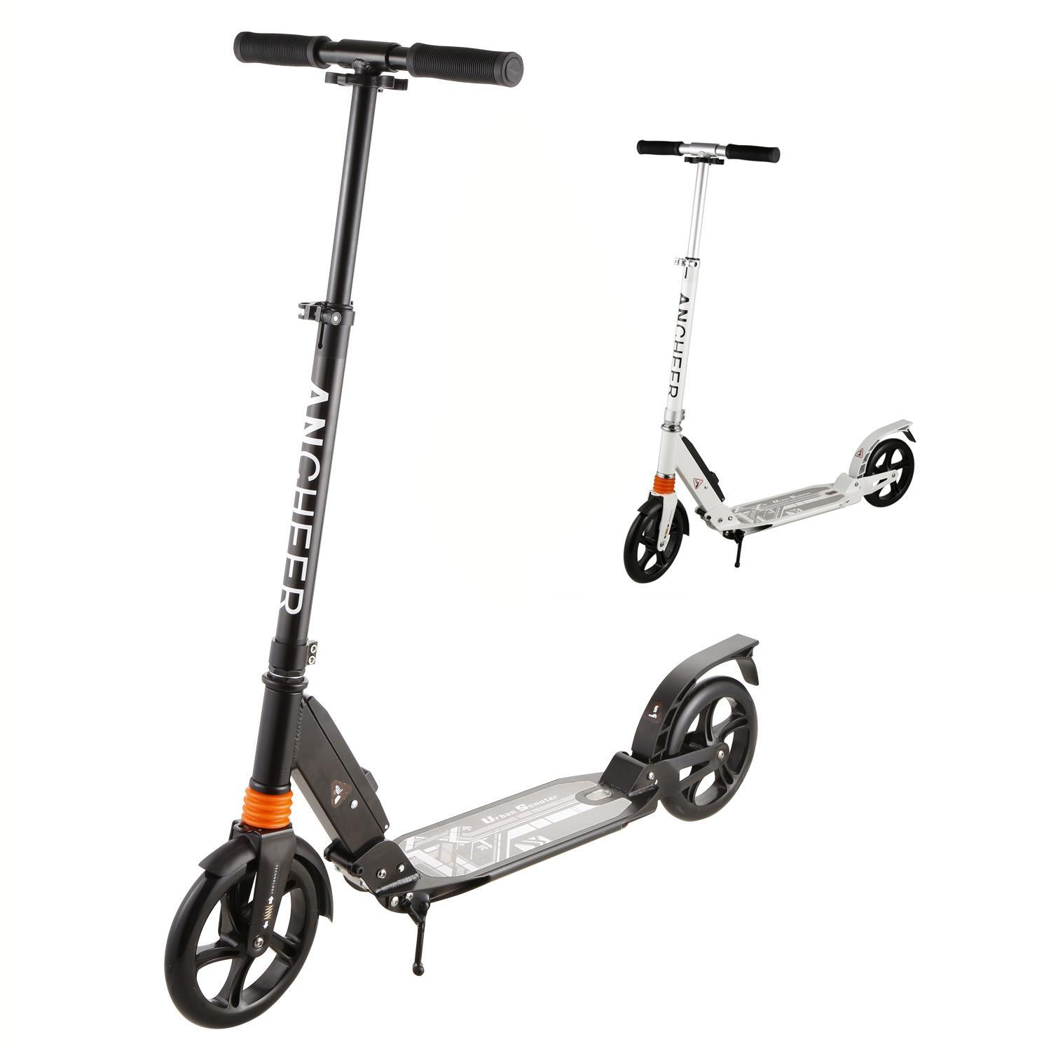 Adult Kick Scooter, Foldable Lightweight 3 Levels Adjustable Height 2-Wheel Kick Scooter... by