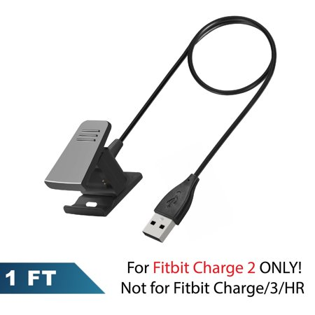 Fitbit Charge 2 Replacement USB Charger Charging Dock Cord Cable Adapter Smart Fitness Activity Tracker Bracelet Wristband by Insten (Length: 1ft/12inch)