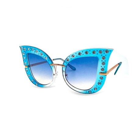Oversized Cat Eye Rhinestone Sunglasses (Oversized Cat Eye Sunglasses)