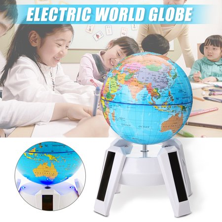 USA Electric Automatic Rotary World Globe Earth Map Geography Educational Kid Christmas