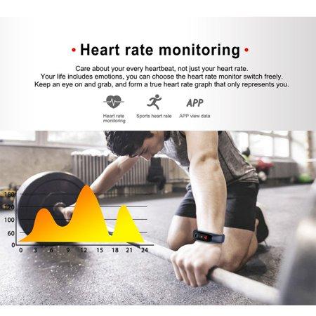 Waterproof Pedometer M3 Smart Bracelet Message Remind health Monitoring Watch - image 3 de 5