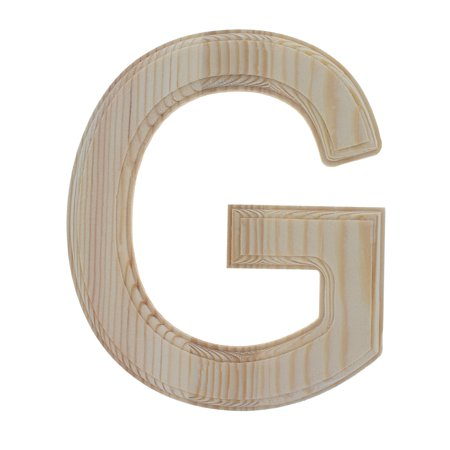 Unfinished Wooden Letter G 625 Inches Walmartcom