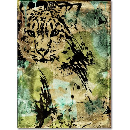 "Trademark Fine Art ""Leopard Ink"" Canvas Art by Color Bakery"