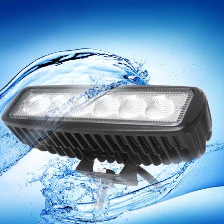 GZYF 2PCS 18W LED Light Bar Work Light Bar Offroad Flood Beam for Truck Car Boat SUV 4WD UTE 4X4 12V