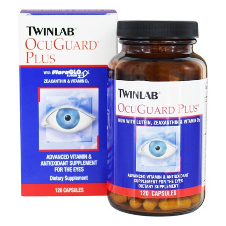 Twinlab - OcuGuard Plus Advanced vitamine et supplément Antioxydant pour les yeux - 120 Capsules