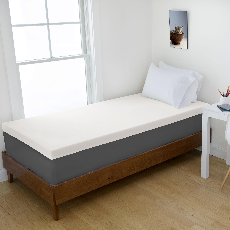 "1.5"" Memory Foam Dorm Mattress Topper by Authentic Comfort"