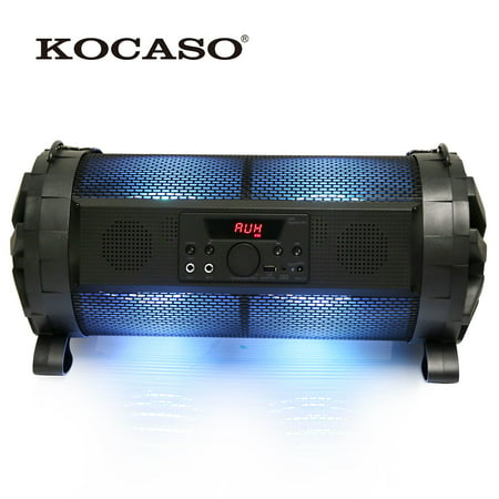 KOCASO Wireless Color Change LED Mood Portable HD Stereo Hi-Fi Speaker   Hands Free Call/AUX/USB Input/Built-In Mic- iPhone X/8/7 Plus/7/Galaxy