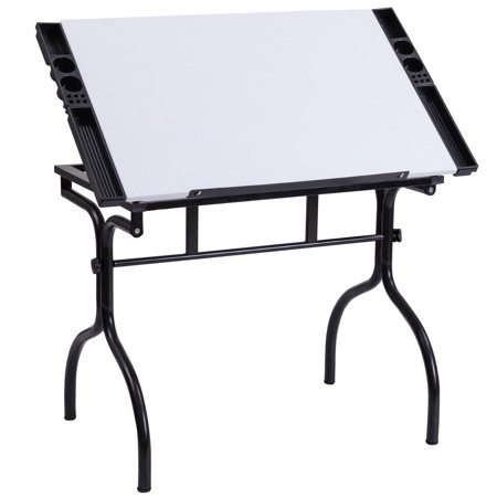 Costway Drafting Table Drawing Desk Adjustable Folding Craft Station Art Hobby (Station Drafting Table)
