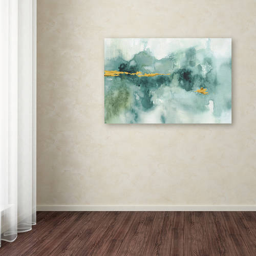 """Trademark Fine Art """"My Greenhouse Abstract I Crop Blue"""" Canvas Art by Lisa Audit"""
