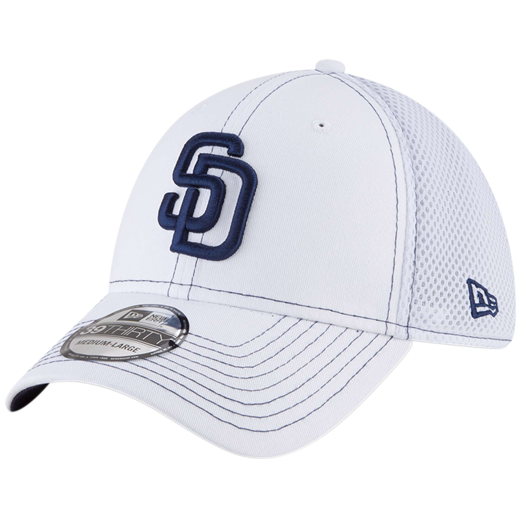 San Diego Padres New Era Team Turn Neo 39THIRTY Flex Hat - White
