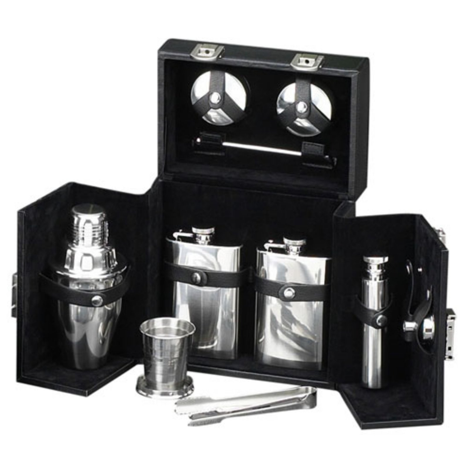 Bey-Berk 10 Piece Flask/Shaker Set