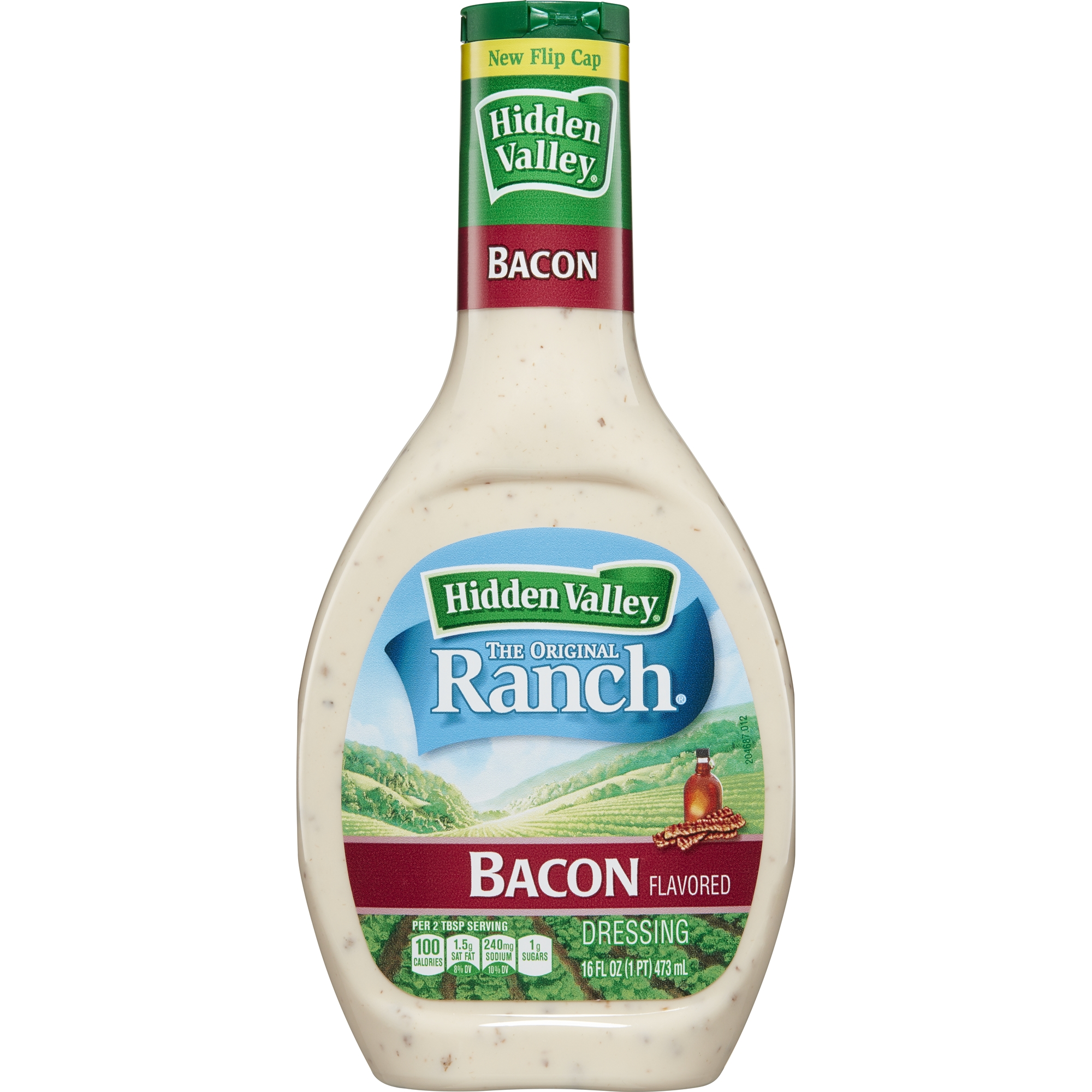 Hidden Valley Bacon Ranch Salad Dressing & Topping, Gluten Free - 16 oz Bottle
