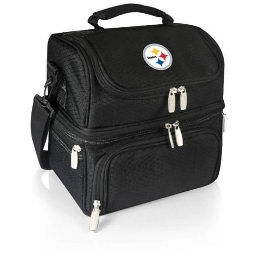 NFL Pittsburgh Steelers Pranzo Insulated Lunch Tote, Black, 12 x 11 x 8-Inch
