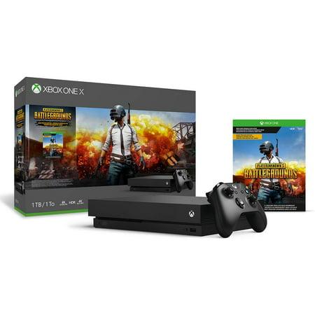 Xbox One X 1TB Console - PLAYERUNKNOWN\'S BATTLEGROUNDS Bundle [Digital Code] (Digital Console)