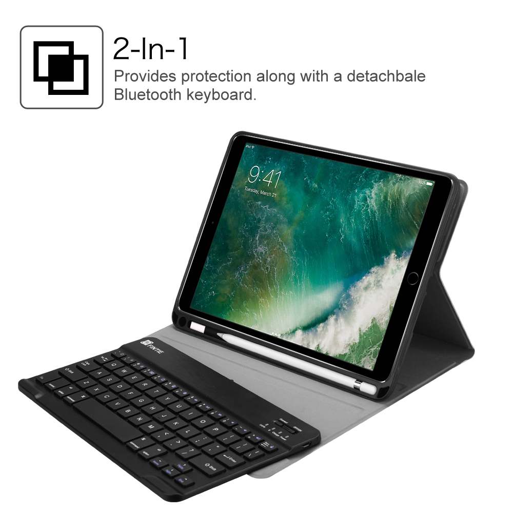 promo code 1af05 0b606 Fintie TPU Keyboard Case Cover with Apple Pencil Holder for iPad 9.7