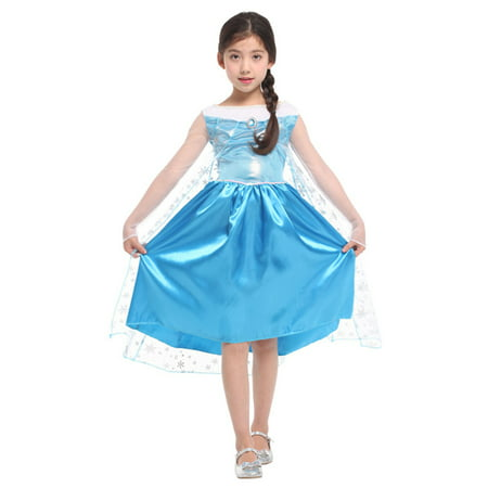 Girls' Disney Princess Elsa Frozen Dress-Up Play Costume](Elsa Costume 7 8)