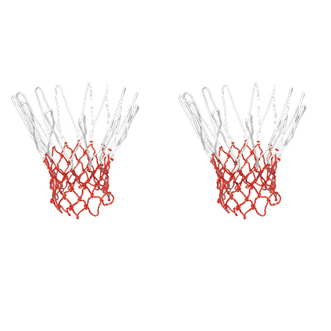 "Unique Bargains 2 Pcs 15.7"" Long Braided Nylon Sport Basketball Nets for Training Match"