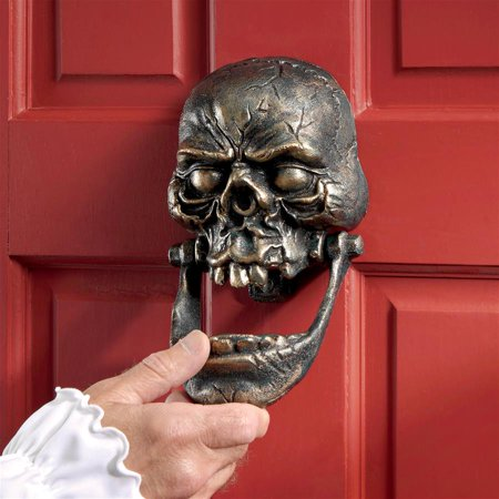 Knock-Jaw Skull Cast Iron Door Knocker