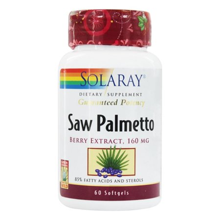 Solaray - Guaranteed Potency Saw Palmetto Berry Extract 160 mg. - 60 Softgels