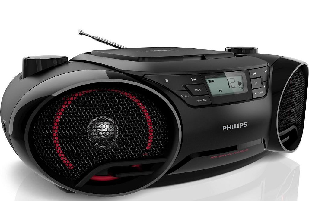 Philips AZ3811 SoundMachine Portable Boombox MP3 CD Player AM FM Radio Stereo Speaker System with USB Aux... by Philips