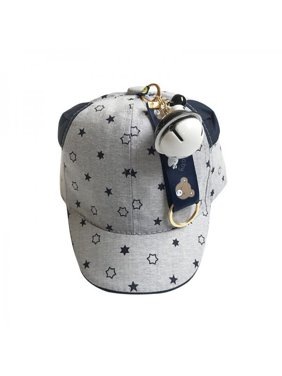 Fymall Newborn Baby Sunscreen Hat Stars Printed With Jingle Bells