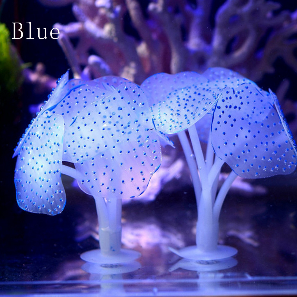 Tuscom Aquarium Fish Tank Fluorescent Soft Silica Gel Coral YE