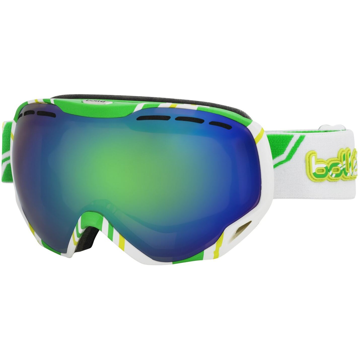 Bolle Emperor Ski Snowboard Goggles Matte Black Frame and Vermillon Gun Lens 2 by Bolle Serengeti Eyewear