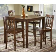 Bernards 5 Piece Pub Dinette in Merlot Finish