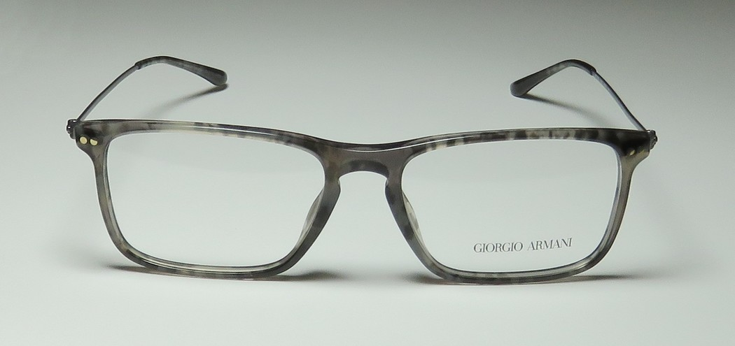 01252be71b8 New Giorgio Armani 7067 Mens Designer Full-Rim Transparent Gray Pattern  Vision Care Classy Trendy Frame Demo Lenses 52-16-145 Eyeglasses Spectacles  ...
