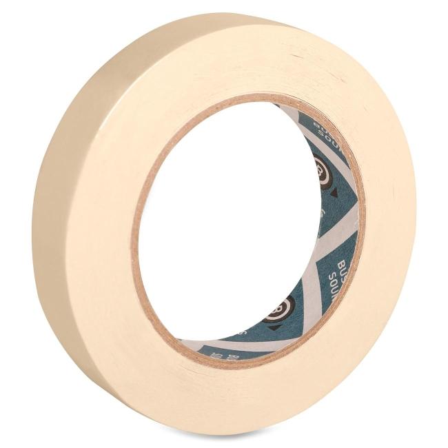 Business Source Masking Tape, 3'' Core, 3/4''x60 Yards, Tan (Set of 4)