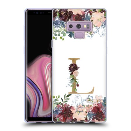 OFFICIAL NATURE MAGICK FLOWERS MONOGRAM FLORAL GOLD SOFT GEL CASE FOR SAMSUNG PHONES 1