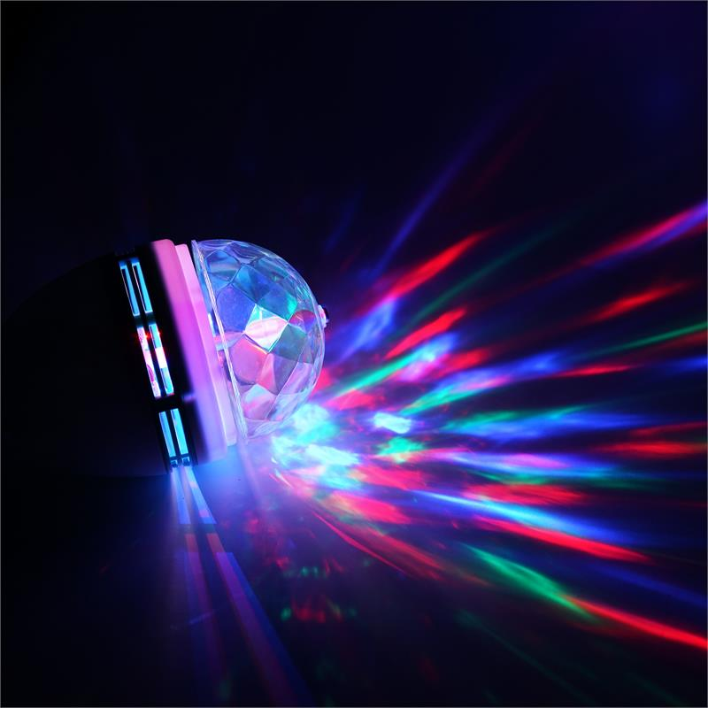 BalsaCircle Red Green Blue Rotating LED Disco Light Bulb - Wedding Party Decorations Supplies