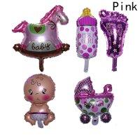Fancyleo 5Pcs\/Set Boy Girl Baby Shower Foil Large Christening  Balloons Party Decoration Kids