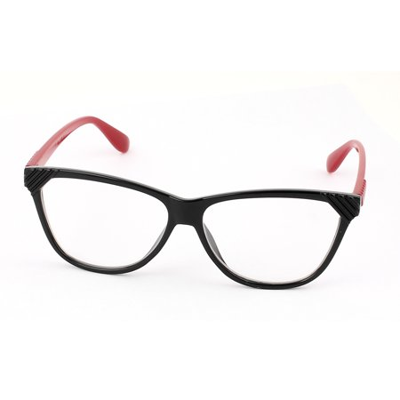 Single Bridge Clear Lens Plain Glasses Eyeglasses Plano Spectacles (Clear Glass Spectacles)